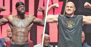 Deontay Wilder vs Tyson Fury váženie