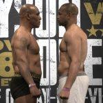 Mike Tyson vs Roy Jones Jr.: výsledky váženia astaredown pred nočným zápasom (VIDEO)