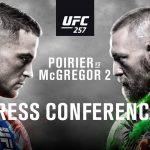 Tlačová konferencia UFC 257: Dustin Poirier vs Conor McGregor 2, Dan Hooker vs Michael Chandler