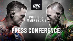 Tlačová konferencia UFC 257: Conor McGregor vs Dustin Poirier 2, Michael Chandler vs Dan Hooker