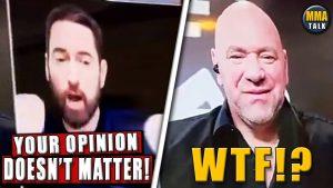 Eminem pred UFC 257 naložil Dana Whiteovi v priamom prenose + VIDEO