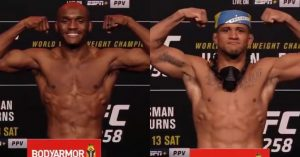 UFC 258: Usman vs. Burns - Výsledky váženia