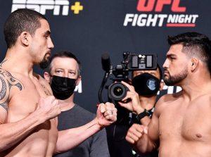 UFC Vegas 24: Robert Whittaker vs Kelvin Gastelum - Výsledky